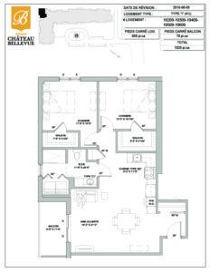 Château Bellevue Amqui – résidence pour aînés – plan logement 4½ I