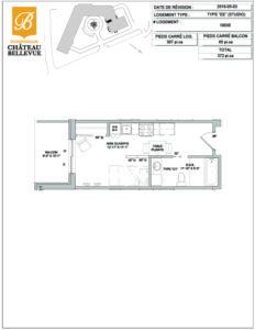 Château Bellevue Shawinigan – résidence pour aînés – plan studio II