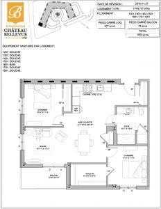 Château Bellevue Shawinigan – résidence pour aînés – plan logement 4½ A