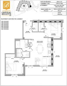 Château Bellevue Shawinigan – résidence pour aînés – plan logement 4½ Z
