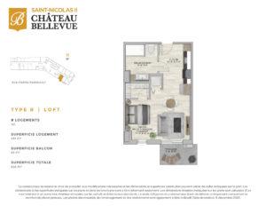 Château Bellevue Saint-Nicolas 2 – résidence pour aînés – plan Loft R