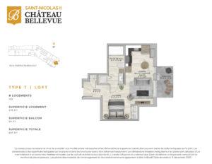 Château Bellevue Saint-Nicolas 2 – résidence pour aînés – plan Loft T